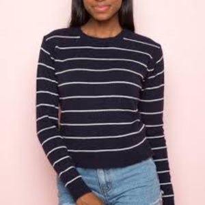 Brandy Melville Abi Sweater | Blue & White Stripe